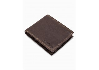 Men's leather wallet A092 - brown