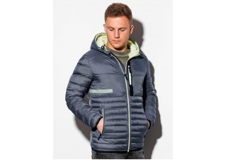 Men's mid-season quilted jacket C372 - grey