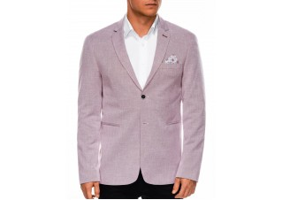 Men's elegant blazer jacket M97 - red