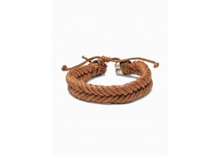 Men's braided bracelet A207 - camel