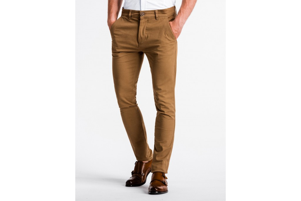 Men's pants chinos P830 - camel