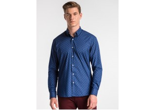 Men's shirt with long sleeves K494 - navy