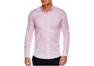 Men's slim shirt with long sleeves K504 - pink