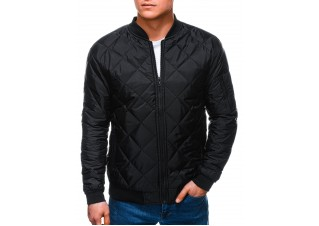 Men's mid-season jacket C397 - black