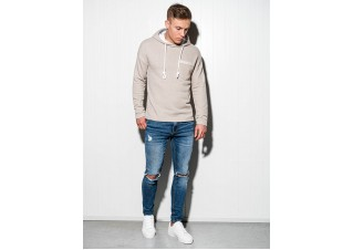 Men's hooded sweatshirt B963 - beige