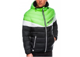 Men's mid-season quilted jacket C434 - green