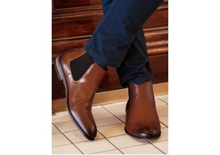 Men's ankle boots T321 - brown