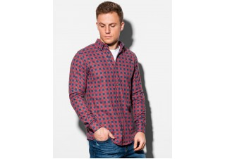 Men's shirt with long sleeves K509 - red