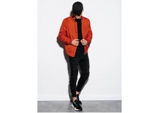 Men's mid-season bomber jacket C439 - brick