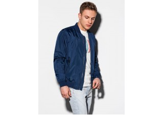 Men's mid-season bomber jacket C439 - navy
