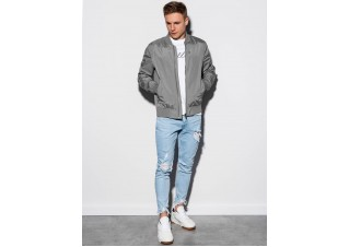 Men's mid-season bomber jacket C439 - grey