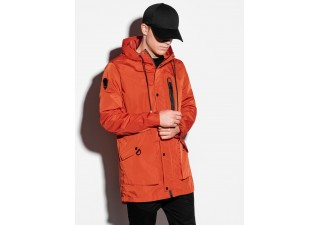 Men's mid-season jacket C440 - brick