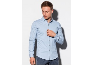 Men's shirt with long sleeves K540 - blue
