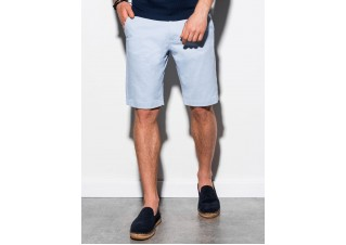 Men's casual shorts W243 - light blue