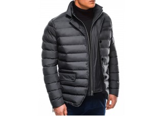 Men's winter quilted jacket C445 - grey