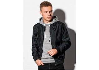 Men's mid-season bomber jacket C439 - black