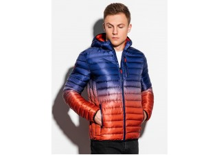 Men's mid-season quilted jacket C319 - violet