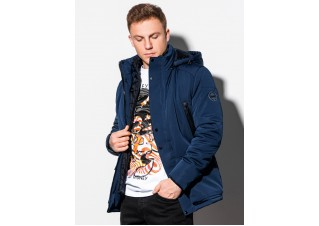 Men's winter jacket C449 - navy