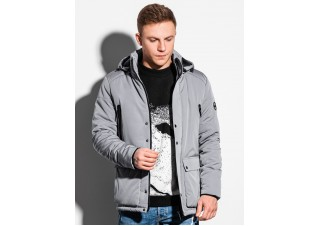 Men's winter jacket C449 - grey