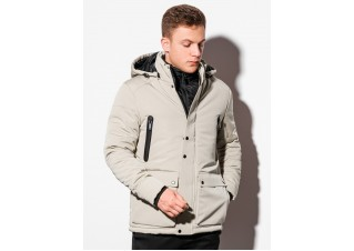 Men's winter jacket C449 - beige