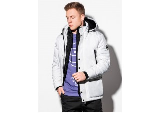 Men's winter jacket C449 - white