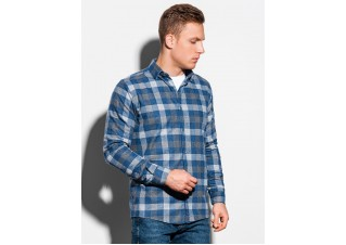 Men's shirt with long sleeves K565 - navy