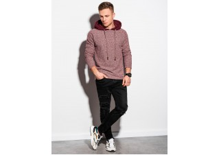 Men's hooded sweatshirt B1185 - red