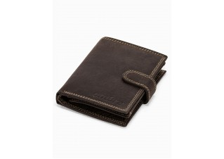 Men's leather wallet A345 - brown
