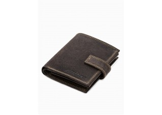 Men's leather wallet A343 - brown