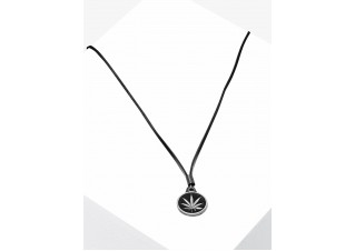 Men's necklace on the leather strap A350