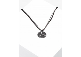 Men's necklace on the leather strap A351