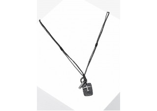 Men's necklace on the leather strap A363