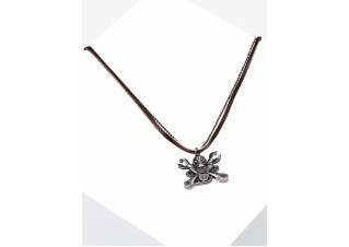 Men's necklace on the leather strap A360