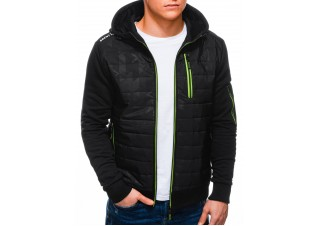 Men's mid-season jacket B1239 - black/green
