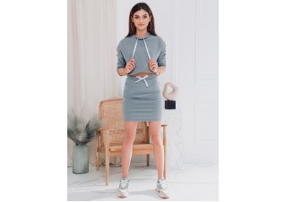 Women's skirt GLR001 - grey melange