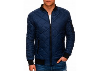Men's mid-season jacket C397 - dark blue