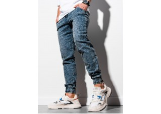 Men's jeans joggers P907 - dark blue
