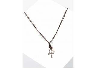 Men's necklace on the leather strap A402