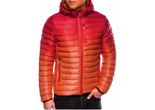 Men's mid-season quilted jacket C319 - red