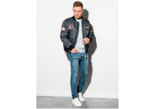 Men's mid-season bomber jacket  C351 - grey