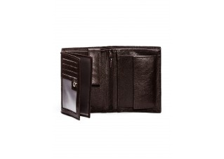 Men's leather wallet A086 - brown